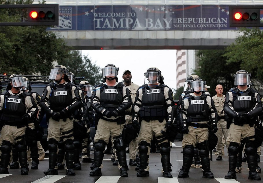 Protesters Demonstrate During The Republican National Convention